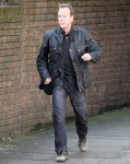 FAMEFLYNET - Kiefer Sutherland Shoots Scenes For 24 In London