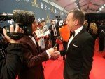 @RealKiefer telling @glasneronfilm that he comes back to Canada all time #CdnScreen15 carpet @Academy_NET #cbcarts @ilanabanks