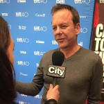 Interviewing Kiefer Sutherland on the red carpet for @citynewstoronto #toronto #kiefersutherland #actor #canada by @cameraguychris