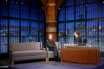 Kiefer Sutherland during an interview with host Seth Meyers on February 18, 2016