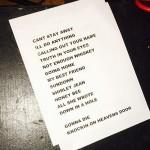 #KieferSutherland Band set list  by @adybiggs