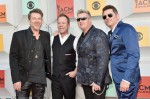 Kiefer Sutherland with recording artists Joe Don Rooney Gary LeVox and Jay DeMarcus of Rascal Flatts