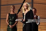 Miranda Lambert accepts the Female Vocalist of the Year award from actor Recording artist Kiefer Sutherland
