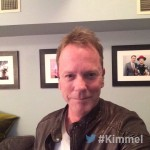 Backstage at #Kimmel - NEW show tonight with @RealKiefer Sutherland #DownInAHole  #ABC